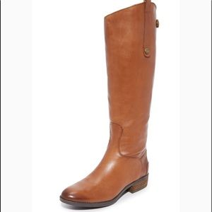 New Sam Edelman Penny Whiskey Leather Riding Boots